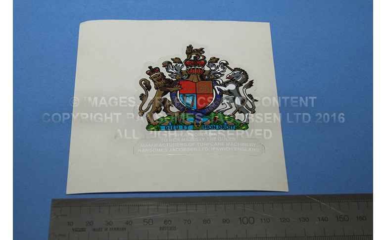009036216 LABEL-COAT OF ARMS