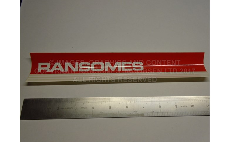 009036720 RANSOMES DECAL CUTTING UNIT