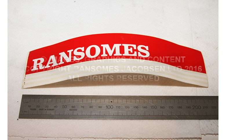009036730 RANSOMES DECAL CUTTING UNIT
