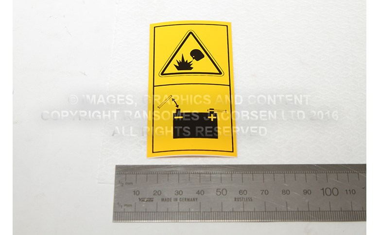 009114100 DECAL-BATTERY